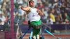 Ruzhdi Ruzhdi of Bulgaria competes in the Men's Discus