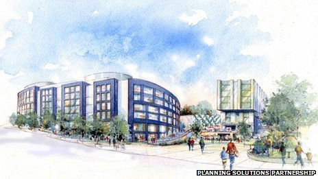 An artist's impression of how Bournemouth's Winter Gardens site might look.