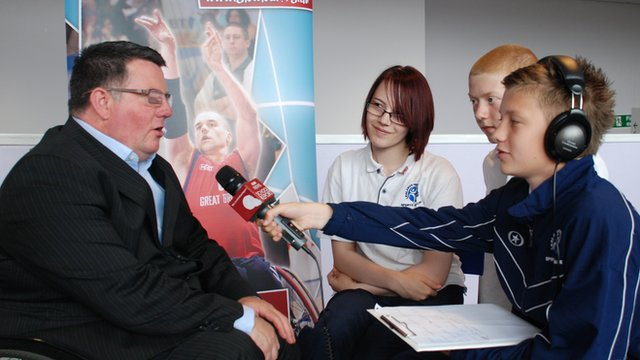 School Reporters interview Martin McElhatton