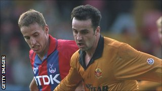 Accrington Stanley manager Paul Cook in action as a player for Wolves