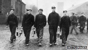 Bevin Boys at the Prince of Wales Colliery, Pontefract in 1944