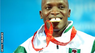 Medal winner Ruel Ishaku in 2008