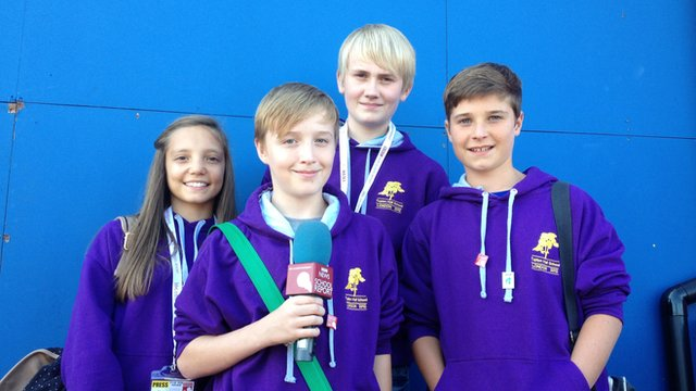 Ellie-Rose, James, Harry and Liam report back on the Paralympics
