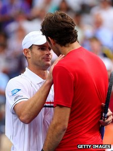 Andy Roddick and Juan Martin Del Potro 