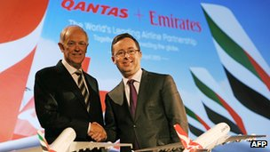 Qantas boss Alan Joyce said the alliance was a key step in turning around the airline's fortunes