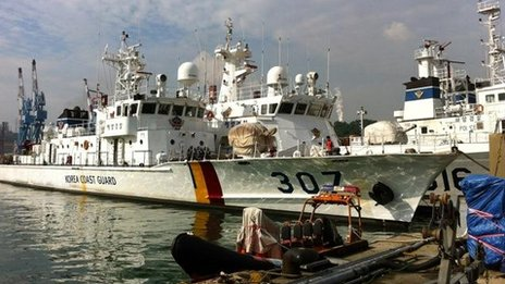 South Korea coastguard boat