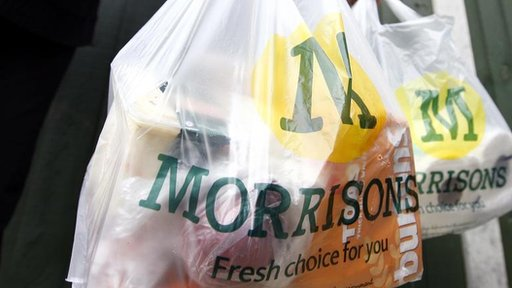 Morrisons Supermarket plastic shopping bags