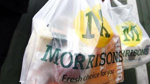 Morrisons Supermarket plastic shopping bags