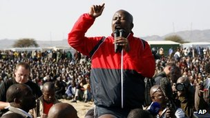Julius Malema at Marikana, 18 Aug