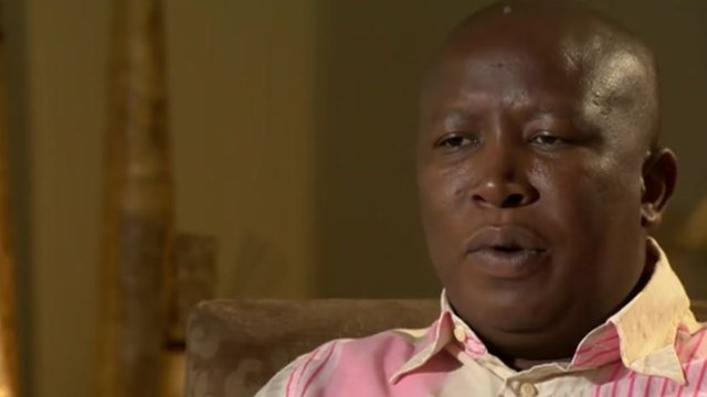 South African activist Julius Malema