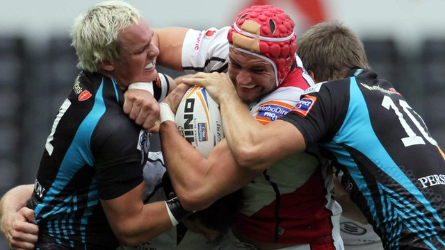 Match action from Ospreys against Ulster