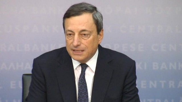 President of the European Central Bank Mario Draghi 