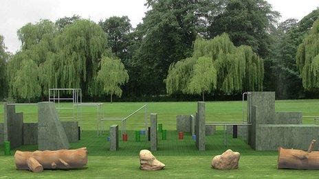Artist's impression of Parkour parks at The Walks, King's Lynn