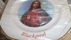 BBC Religion&Ethics - Blackpool, The Repository, plate with picture of Jesus