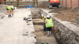 Archaeologists in car park