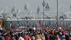 Crowds near the Olympic Stadium