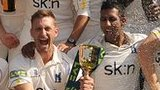 Warwickshire celebrate the County Championship