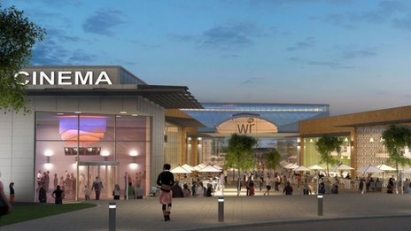 Artist's impression of expanded White Rose centre