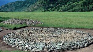 Ancient burial mound in Kazakhstan