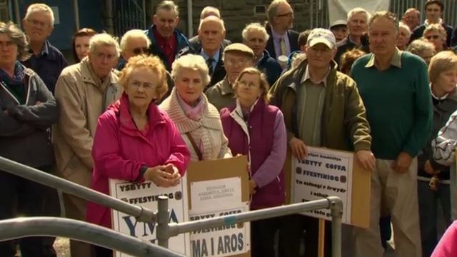Campaigners in Blaenau Ffestiniog do not want their local hospital to close