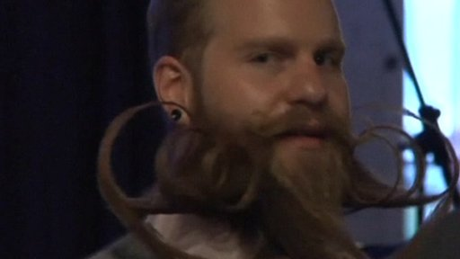 Man at 'Beard and Moustache Championship'