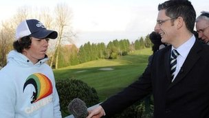 Interviewing a young Rory McIlroy
