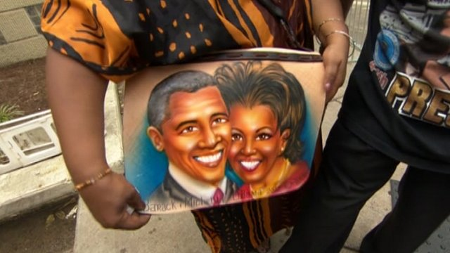 Michelle and Barack Obama bag