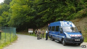 The shootings took place along a quiet forest road in the French Alps