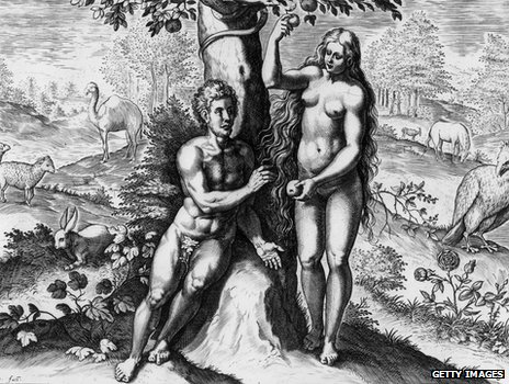 Adam and Eve at the tree of knowledge