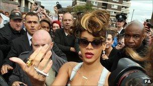 Rihanna in north Belfast