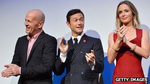 Looper stars Bruce Willis, Joseph Gordon-Levitt and Emily Blunt