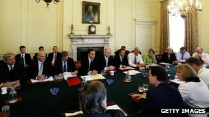 Coalition Cabinet meeting in 2010