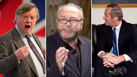 From left to right, Ken Clarke, George Galloway, Todd Akin 