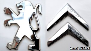 Peugeot and Citroen logos
