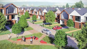Sighthill homes (artists impression)
