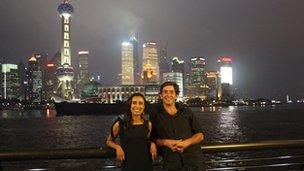 Justin Rowlatt and Anita Rani in Shanghai