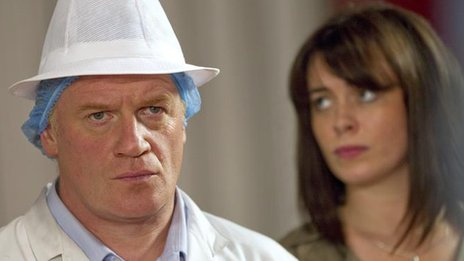 Mark Lewis Jones and Eve Myles