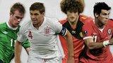 Chris Brunt, Steven Gerrard, Marouane Fellaini, Gareth Bale