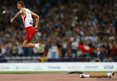 Poland's Lukasz Mamczarz starts his run up during the men's high jump F42 final