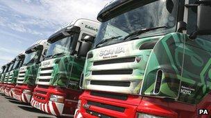 Eddie Stobart lorries