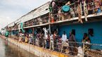 A barge arrives at Juba port, South Sudan - Friday 31 August 2012