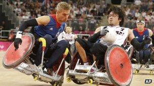 Steve Brown in action against Japan