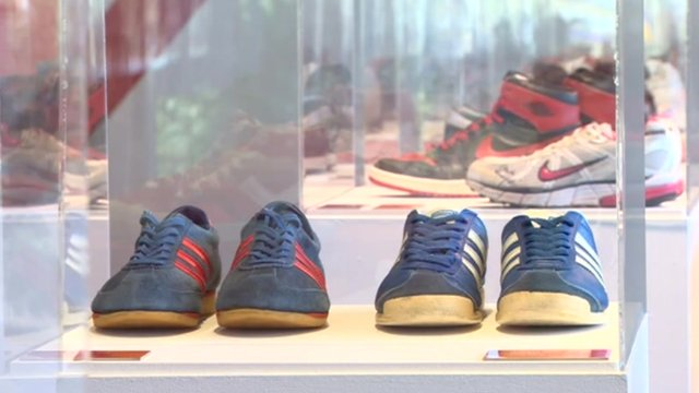 Trainers at exhibition in Barnsley