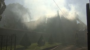 Fire at Luckington Manor