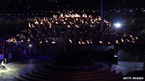 Paralympic cauldron