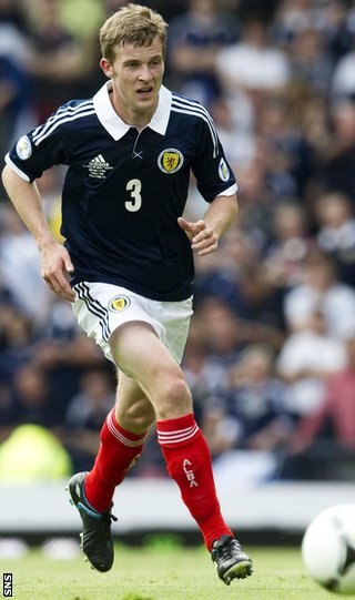 Scotland left-back Paul Dixon