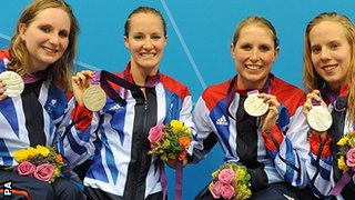 Heather Frederiksen, Claire Cashmore, Steph Millward & Louise Watkin