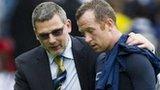 Scotland coach Craig Levein and Charlie Adam