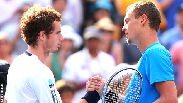 Andy Murray and Tomas Berdych