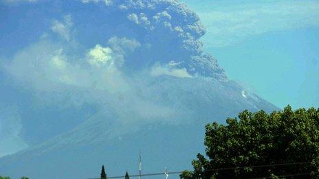 San Cristobal volcano eruption in Nicaragua